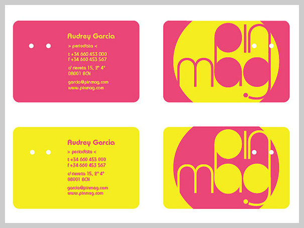 Pink Business Cards - Pin Mag