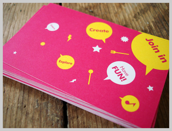 Pink Business Cards - Rhythm Kitchen