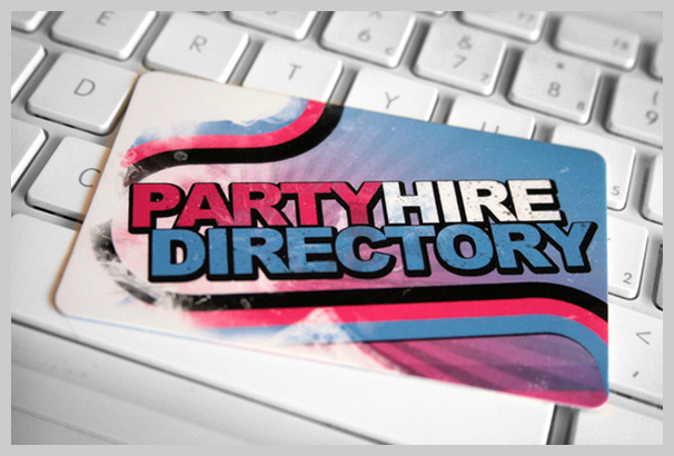 Pink Business Cards - Party Hire Directory