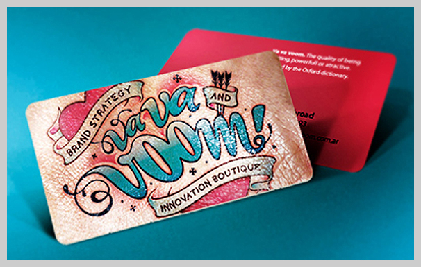 Pink Business Cards - Va Va Voom