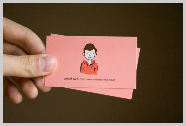 Pink Business Cards - Micah Rich