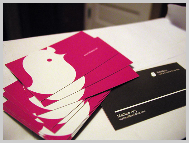 Pink Business Cards - HellaBoss