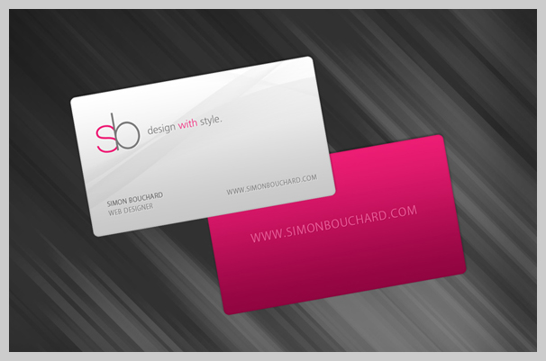 Pink Business Cards - Simon Bouchard