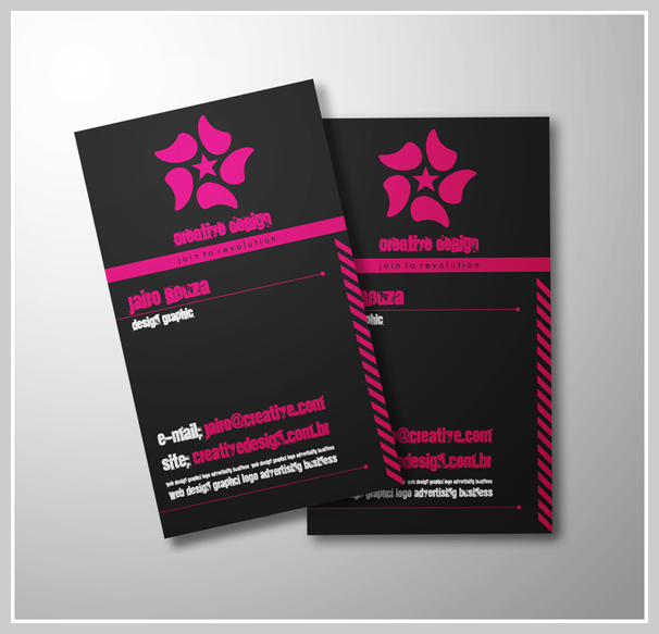Pink Business Cards - Jairo Souza