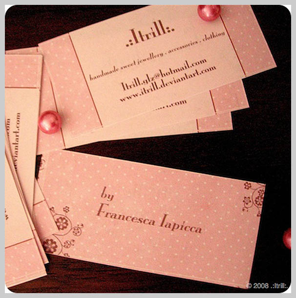 Pink Business Cards - Itrill