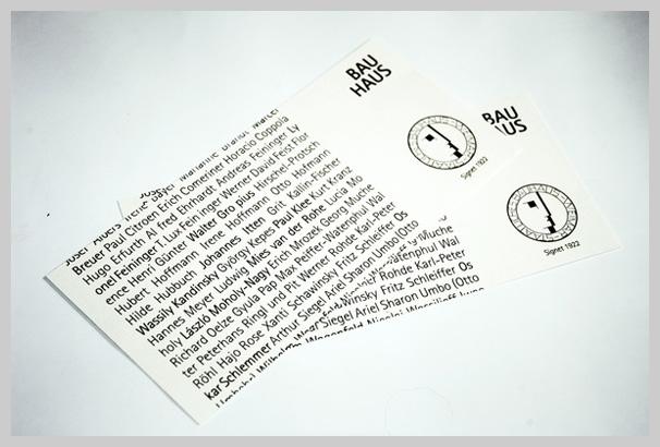 Event Ticket Design - 90 Jahre Bauhaus, Weimar