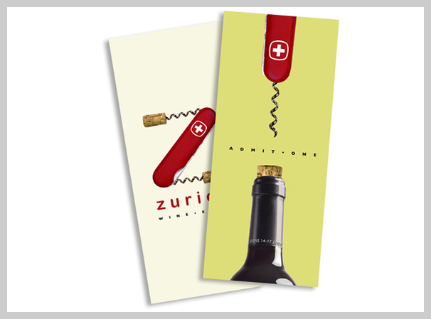 Event Ticket Design - Zurich Wine Expo