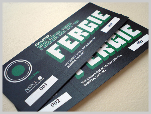 Event Ticket Design - Fergie