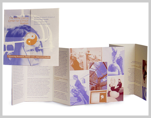 Medical Brochure Design - The Wolfe-Harris Center for Clinical Studies