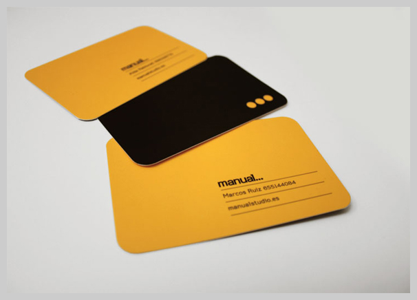 16 orange business card design examples uprinting orange business card manualstudio reheart Choice Image