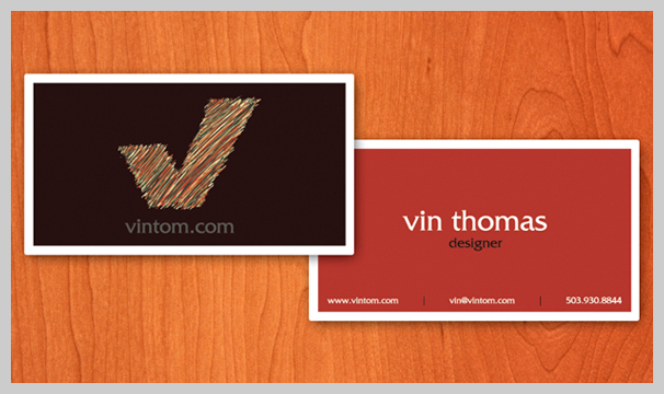 Showcase Of Red Business Card Designs - Red Sweater Business Cards X3