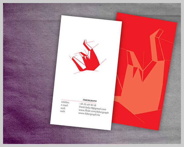 Captivating And Eye Catching Red Business Card Designs - Red Business Card