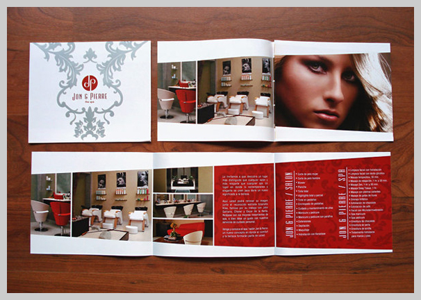 Spa Brochure Design - Jon and Pierre