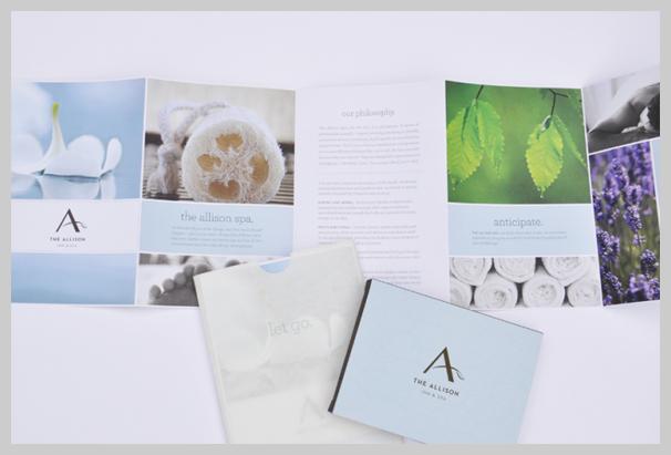 Spa Brochure Design - The Allison Spa