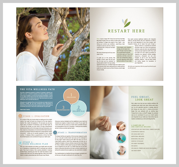Spa Brochure Design - Vita Promotional Materials