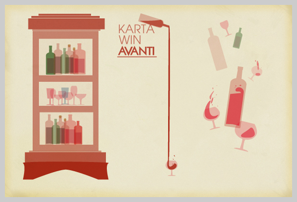 Wine Menu Design - Karta Win Avanti