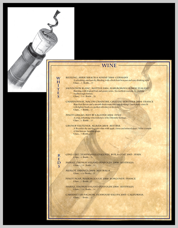 Wine Menu Design - Bar on Buena