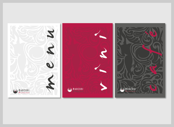 Wine Menu Design - Restaurant Marconi