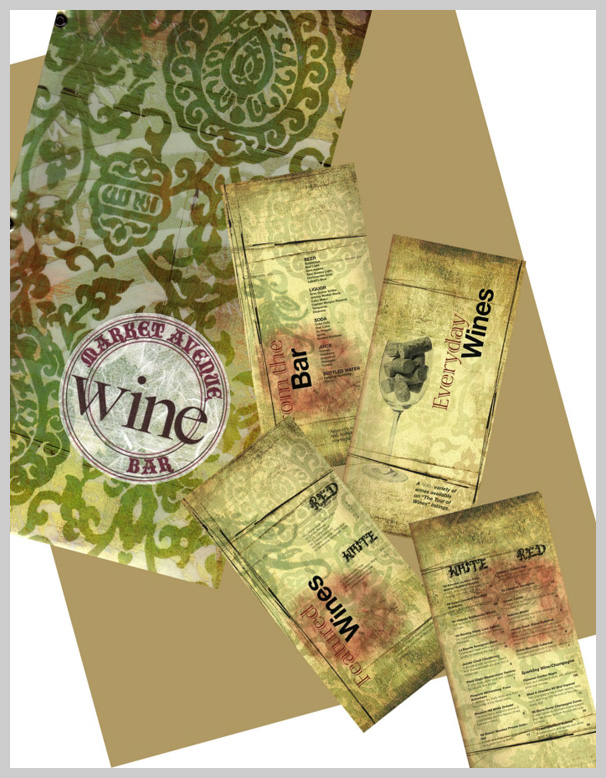Wine Menu Design - Market Avenue Wine Bar