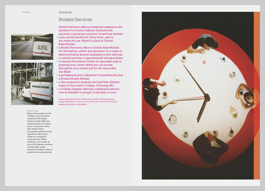 College Brochure Design   Central Saint Martins
