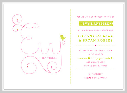 Custom Birth Announcement - Evy Danielle