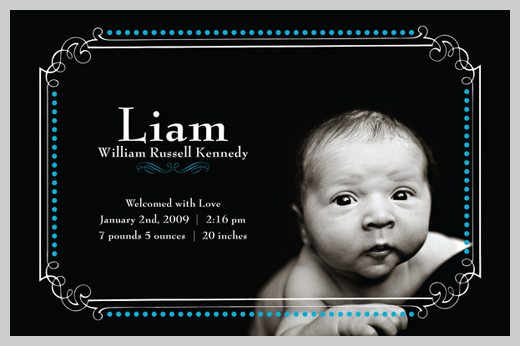 Custom Birth Announcement - William Russell Kennedy