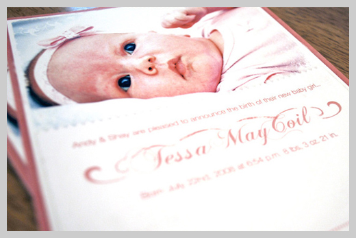 Custom Birth Announcement - Tessa May Coil