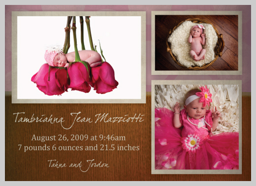 Custom Birth Announcement - Tambriahna Jean Mazziotti