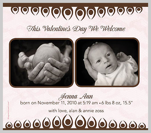 Custom Birth Announcement - Jenna Ann Zoss