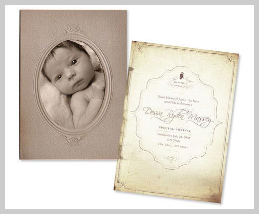 Custom Birth Announcement - Dessa Ryden Massey
