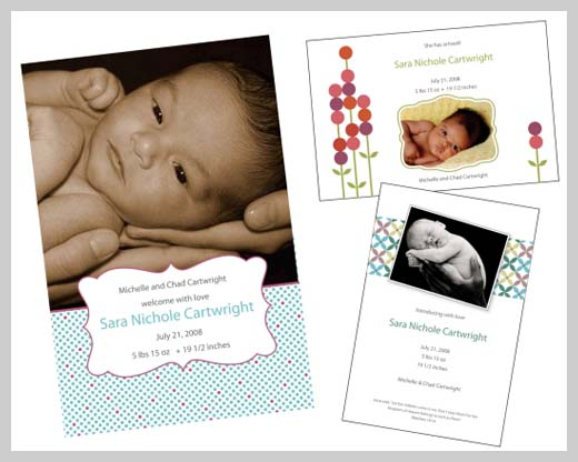 Custom Birth Announcement - Sara Nicole Cartwright