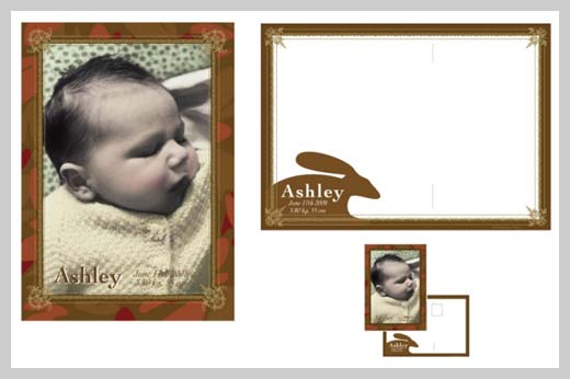 Custom Birth Announcement - Ashley