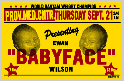 Custom Birth Announcement - World Bantam Weight Champion