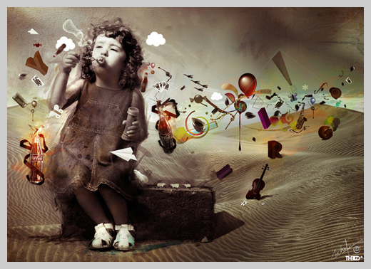 Digital Canvas Print - Imagination: thelrd and Archan Nair
