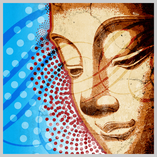 Digital Canvas Print - Buddha with Dots