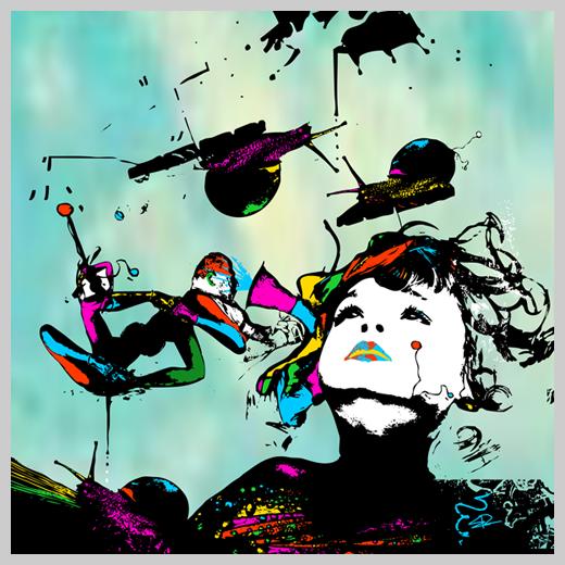 Digital Canvas Print - Staring at Dizzy World