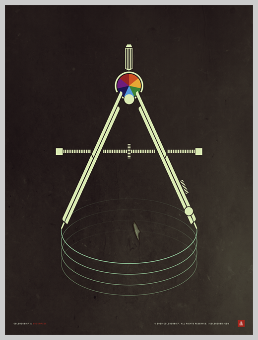 Minimalist Poster Design Examples - Colorcubic Encompass Print