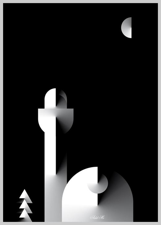 Minimalist Poster Design Examples - A metafisico