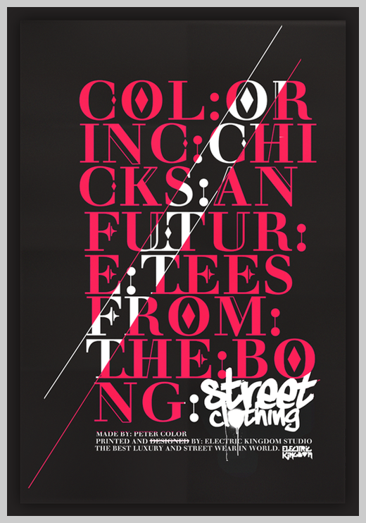 Minimalist Poster Design Examples - Color Street Clothing