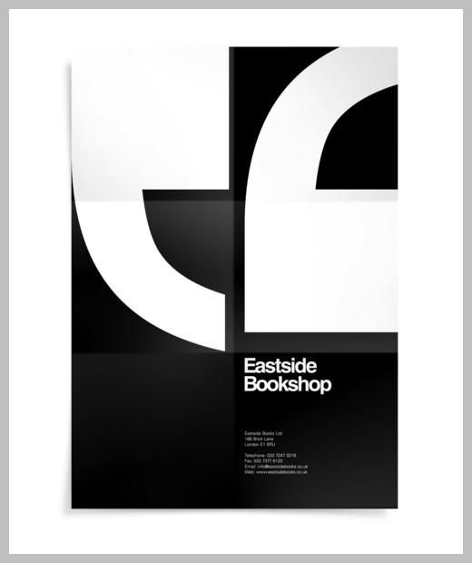 Minimalist Poster Design Examples - Eastside Bookshop identity