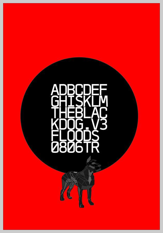 Minimalist Poster Design Examples - The Black Dog