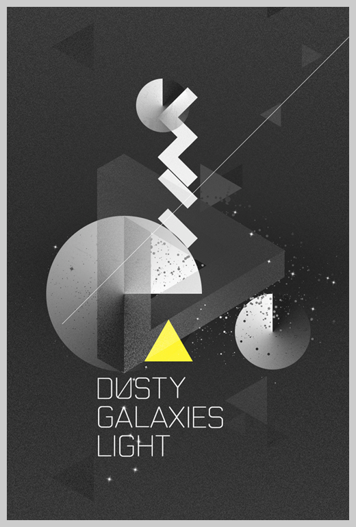Minimalist Poster Design Examples - Dusty Galaxies Light