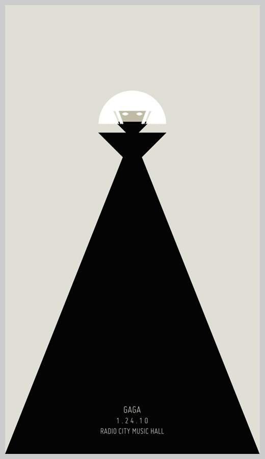 Minimalist Poster Design Examples - Lady Gaga Tour Poster