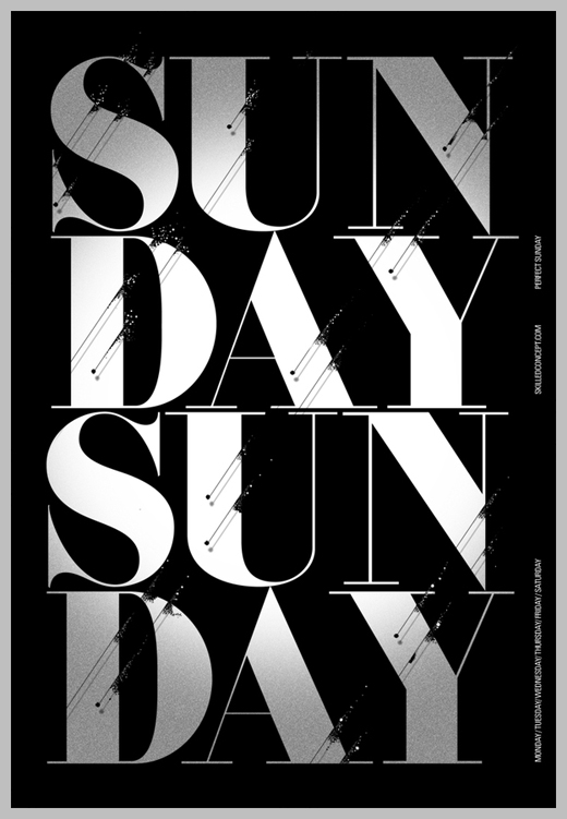 Minimalist Poster Design Examples - Weekday Project