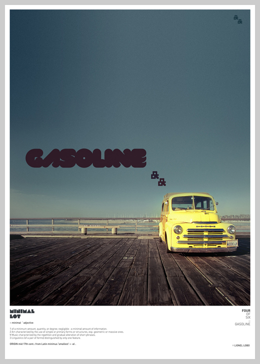 Minimalist Poster Design Examples - Minimal Lot: Gasoline