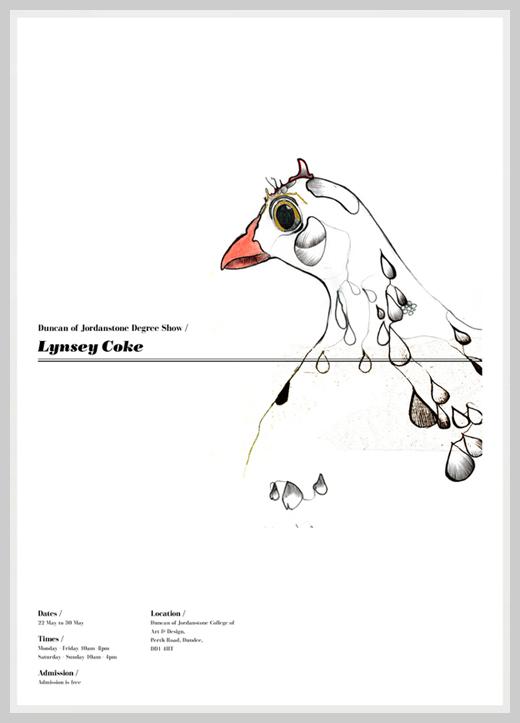 Minimalist Poster Design Examples - Lynsey Coke