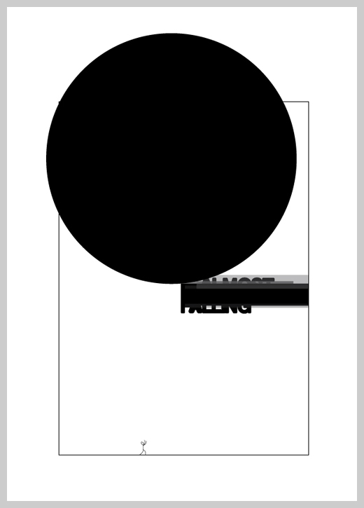 Minimalist Poster Design Examples - Almost Falling