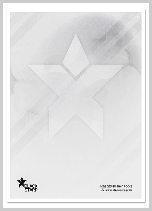 Minimalist Poster Design Examples - Black Starr Visual Identity