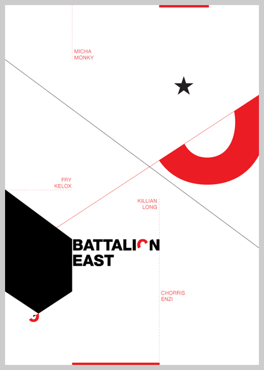 Minimalist Poster Design Examples - Battalion East