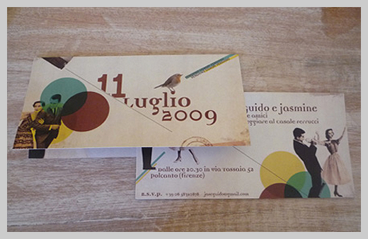 Wedding Invitation Greeting Cards - 11 Luglio